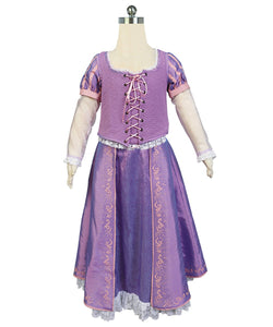 Princesse Raiponce Robe Cosplay Costume Version Pour Enfant
