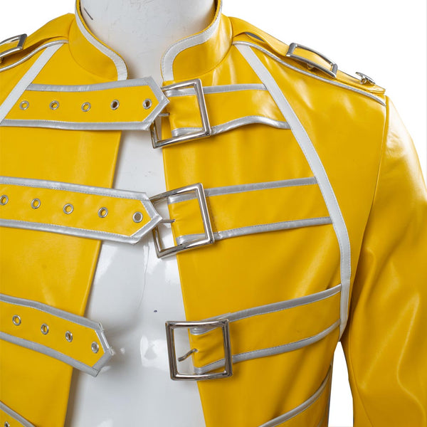 Queen Freddie Mercury Veste Jaune Cosplay Costume