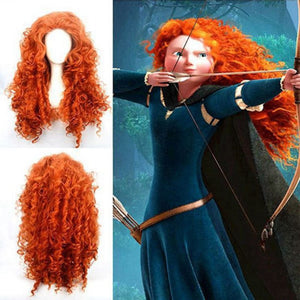 Rebelle Princesse Merida Cosplay Perruque