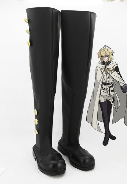 Seraph of the End Ferid Bathory Botte Cosplay Chaussures