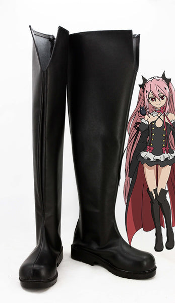 Seraph of the End Krul Tepes Botte Cosplay Chaussures