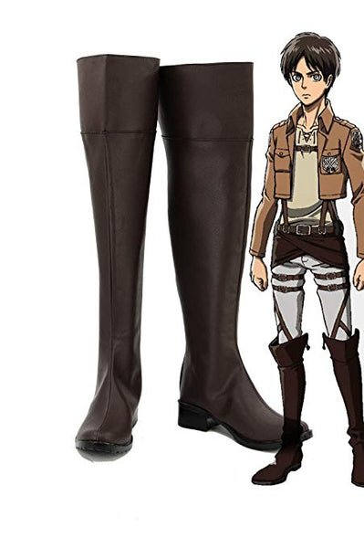 Shingeki no Kyojin Attack on Titan Eren Jaeger Botte Cosplay Chaussures