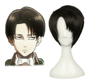 Shingeki no Kyojin Attack on Titan Levi Cosplay Perruque