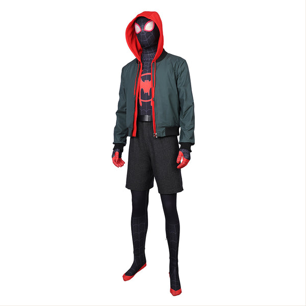 Spider-Man Into the Spider-Verse Spiderman Miles Morales Cosplay Costume