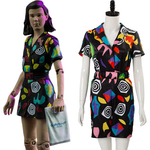 Stranger Things Saison 3 S3 Onze Eleven Combishort Cosplay Costume