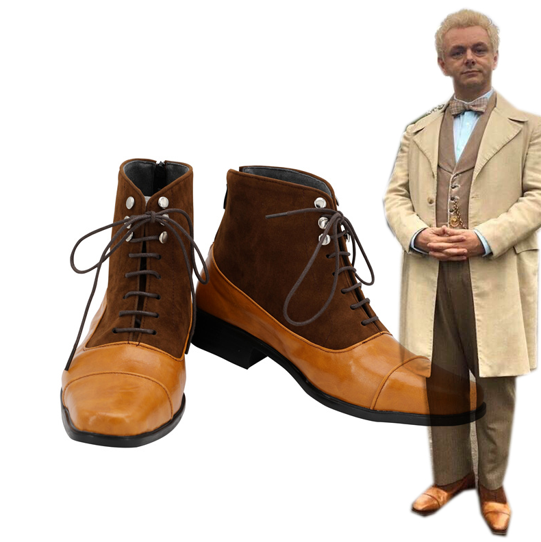 TV Good Omens Ange Aziraphale Cosplay Chaussures
