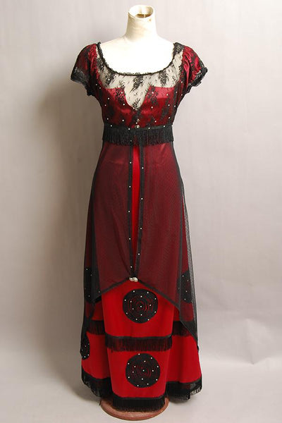 Titanic Rose Robe Rouge Cosplay Costume