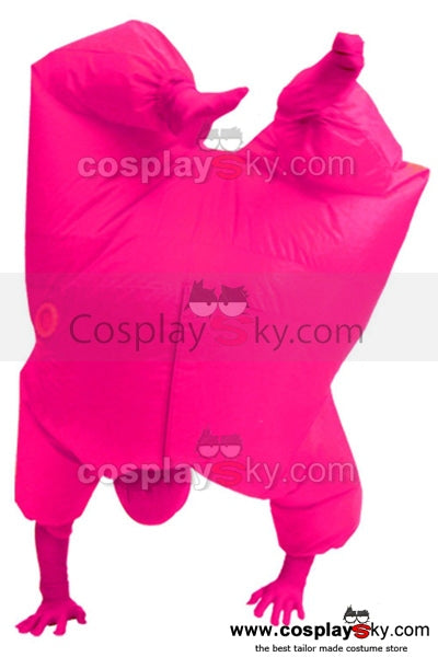 Gonflable Combinaison Taille d'Adulte Cosplay Costume Version Rose