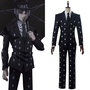 Jojo's Bizzare Adventure Golden Wind JJBA Bruno Bucciarati Cosplay Costume Noir