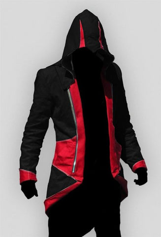 Assassin's Creed 3 Connor Kenway Veste Cosplay Costume Version Noire