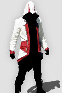Assassin's Creed 3 Connor Kenway Veste  Cosplay Costume  Version Rouge