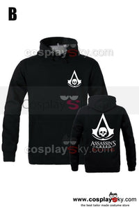 Assassin's Creed 4 Black Sweat-shirt Cosplay  Costume