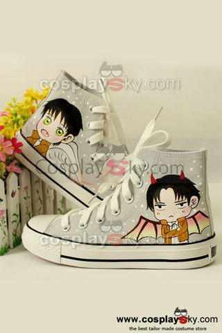Shingeki No Kyojin / Attack on Titan Eren et Rivaille Chaussures de Canevas
