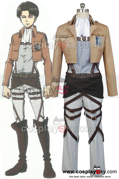 Attack on Titan Scouting Legion Rivaille Uniforme sans Cape Cosplay Costume