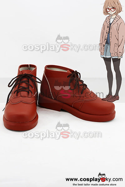 Beyond the Boundary Mirai Kuriyama Cosplay Costume+ Lunettes + Perruque+ Chaussures