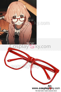 Beyond the Boundary Mirai Kuriyama Lunettes Rouges Cosplay Accessoire