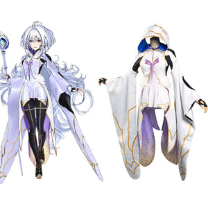 Fate/Grand Order FGO Merlin Femme Robe Halloween Cosplay Costume