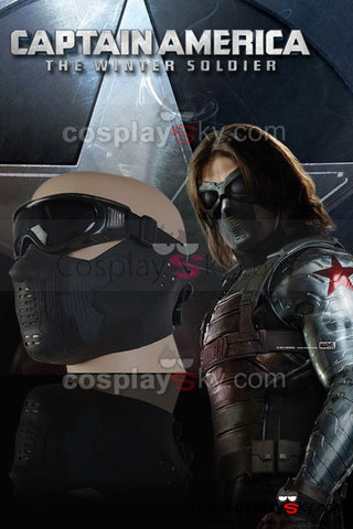 Captain America The Winter Soldier Bucky Barnes Masque avec Lunettes Cosplay