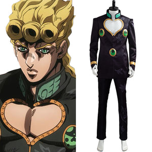 JoJo's Bizarre Adventure Golden Wind jjba Giovanna Giorno Costume Noir Cosplay Costume