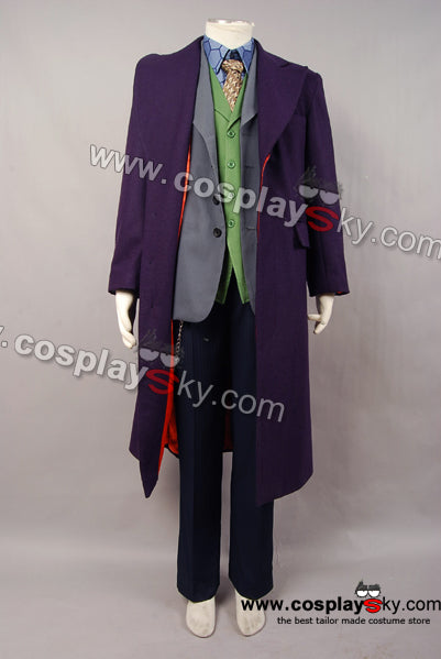 The Dark Knight: Le Chevalier noir Joker Cosplay Costume 6 pieces Version de Laine