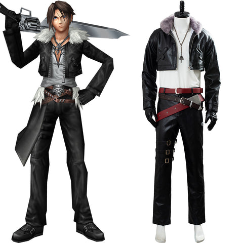 Final Fantasy VIII Remastered FF8 Squall Leonhart Cosplay Costume