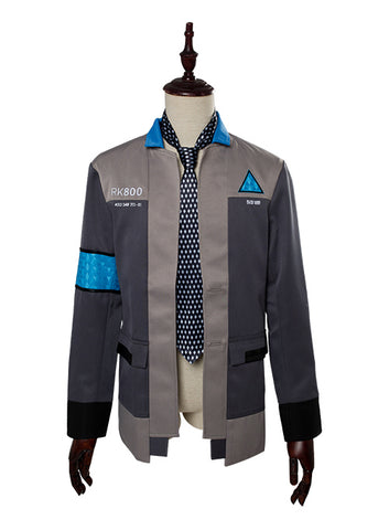 Detroit: Become Human Connor RK800 Agent Veste Cravate Cosplay Costume