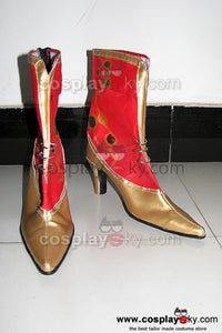 Dissidia 012: Duodecim Final Fantasy Botte Rouge  Cosplay Chaussures