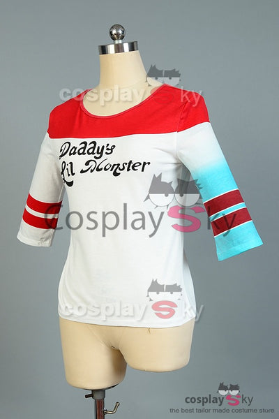 Suicide Squad Harley Quinn Tee-shirt Cosplay Costume