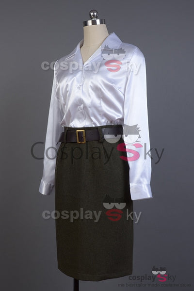 Captain America: First Avenger Peggy Carter Cosplay Costume Version Verte