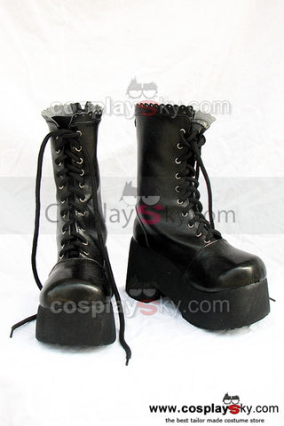 Fate Stay Night Saber Cosplay Chaussures Noires