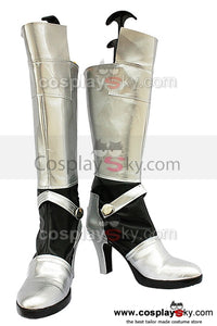 Fate Stay Night Saber Cosplay Chaussures d'Argent