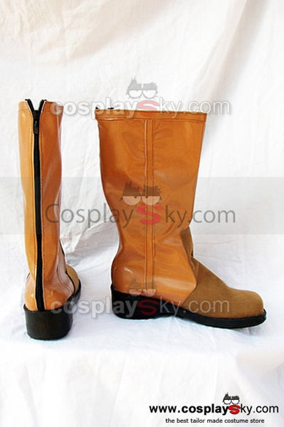 Final Fantasy 7 Aerith Botte Brune Cosplay Chaussures