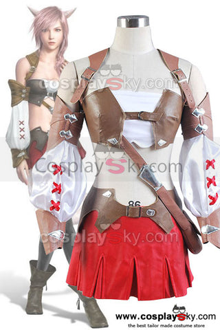 Final Fantasy XIII 13 Lightning Cosplay Costume Nouveau