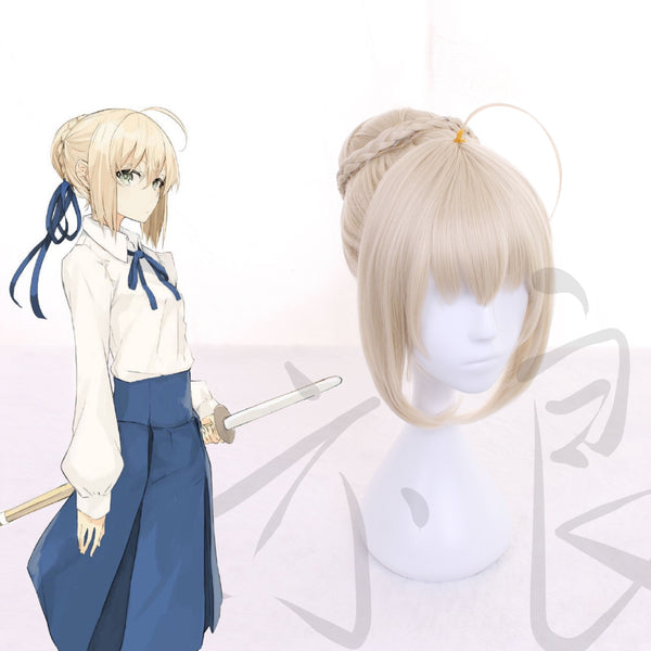 Fate/Apocrypha FA Saber Perruque Cosplay Perruque