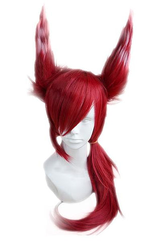 LOL League of Legends Xayah Perruque Cosplay Perruque