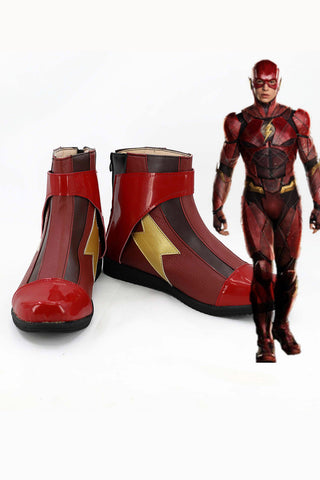 Justice League 2017 Barry Allen Flash Bottes Cosplay Chaussures