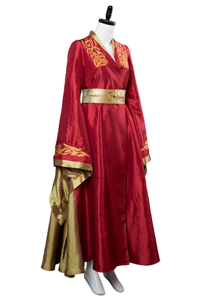Le Trone De Fer Cersei Lannister Robe Rouge Cosplay Costume