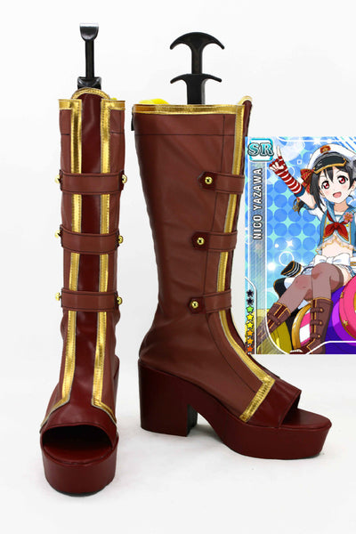 Love Live! Navy Marin Bottes Cosplay Chaussures