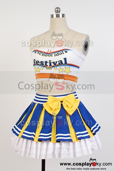 LoveLive! Eli Ayase Cheerleaders Uniforme Cosplay Costume