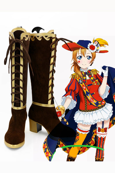 LoveLive! Eli Ayase Magicien Botte Cosplay Chaussures