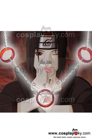 Naruto Uchiha itachi Collier d'argent Cosplay Accessoire