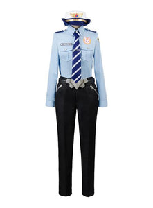 Overwatch D.VA DVA Hana Song Police Officier Uniforme Cosplay Costume
