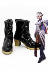 Overwatch OW Mercy Bottes Cosplay Chaussures