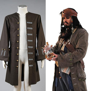 Pirates Of The Caribbean Jack Sparrow Veste Cosplay Costume