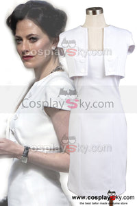 Sherlock Holmes The Woman Irene Adler Robe Blanche Cosplay Costume