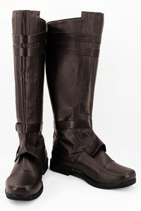 Star Wars Anakin Skywalker Bottes Brune Cosplay Chaussures