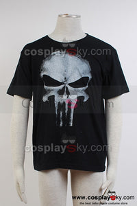 THE PUNISHER Squelette Tee-shirt Noir Cosplay Costume