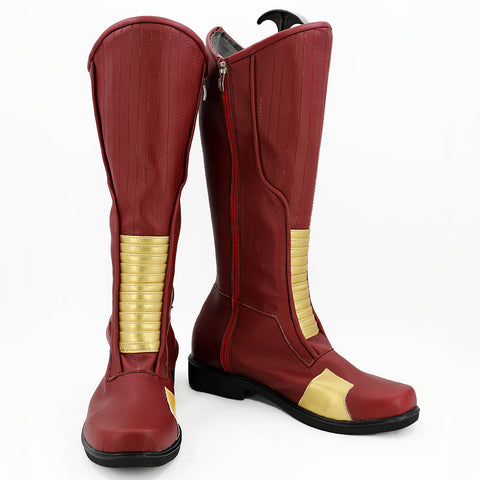 The Flash Saison 4 Barry Allen Bottes Cosplay Chaussures