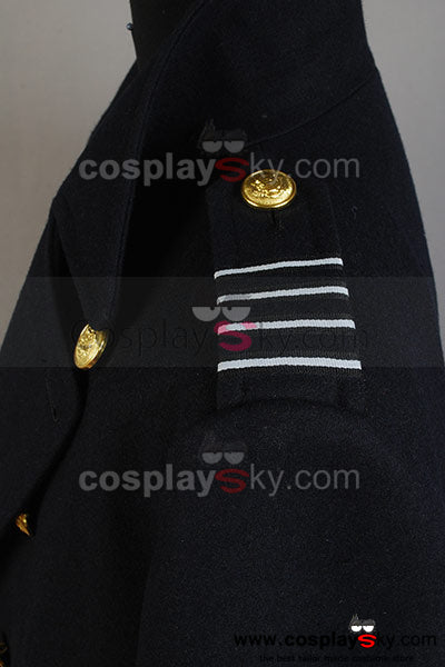 Torchwood Captain Jack Harkness Manteau Version Bleue Cosplay Costume