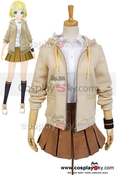 Vocaloid Project DIVA-F 2 RIN Cosplay Costume